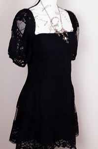 Free People Dresses - FREE PEOPLE BLACK LACE MINI DRESS